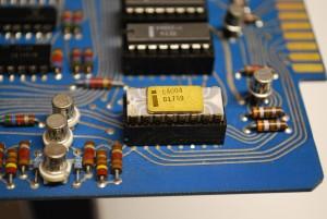 Placa electrónica con el Intel 4004