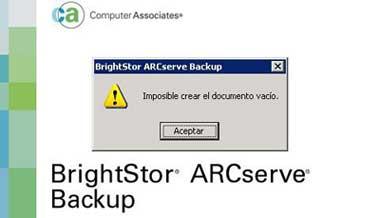 Error en ArcServe