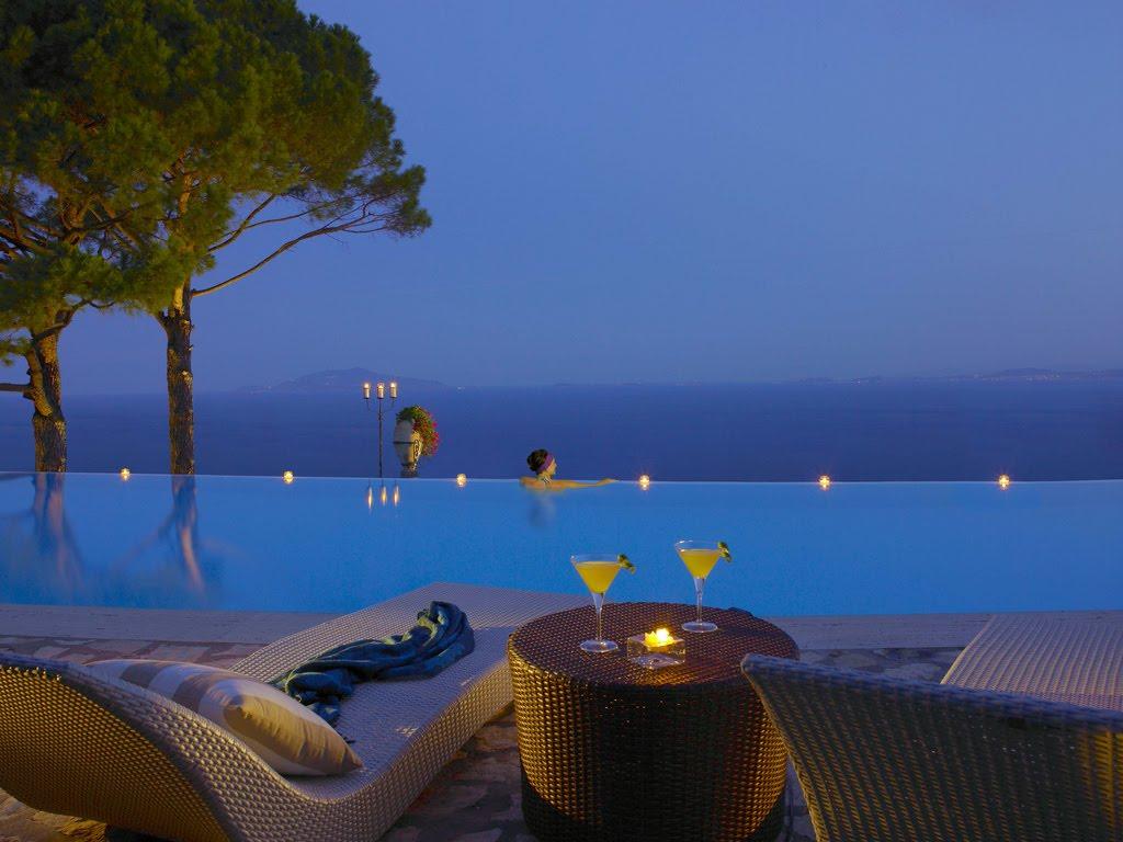 Infinity Pool Hotel Caesar Augustus, Italia